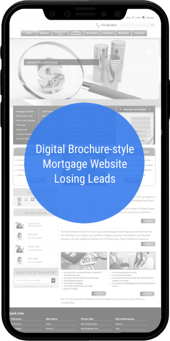 Brochure Mortgage Website