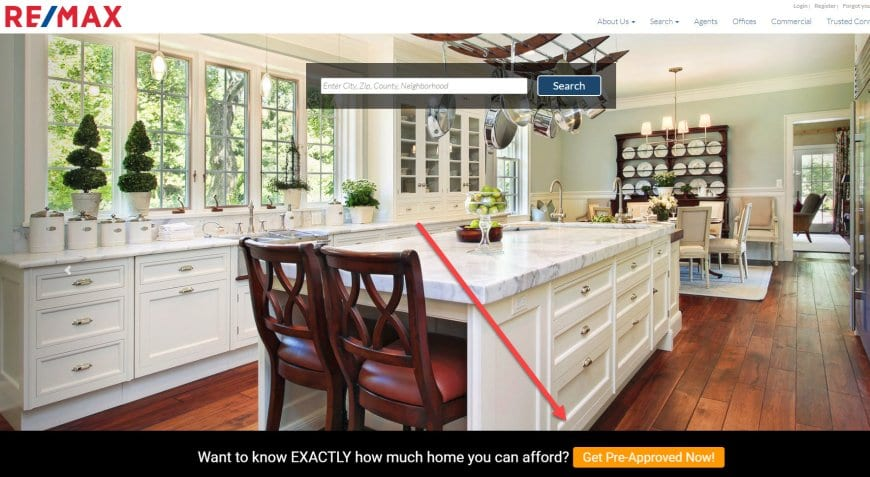 Sticky Bar for Real Estate Agent Co-Marketing Lead Generation